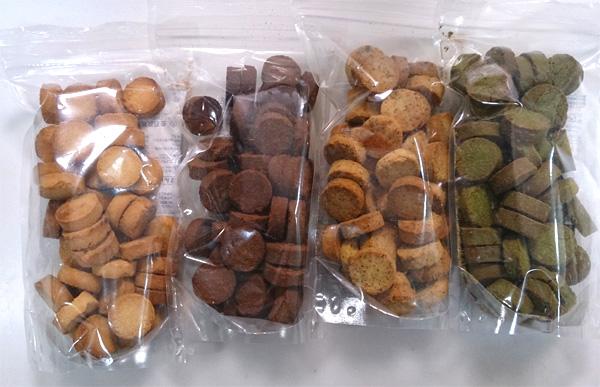 袋に入った4種類の味の画像です。